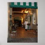 Café de café de promenade latérale de Cafe Du Mond Poster
