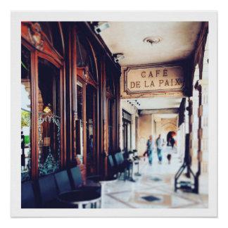 Cafe de la Paix, La Rochelle Market 2014 Poster