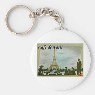 cafe de paris basic round button keychain