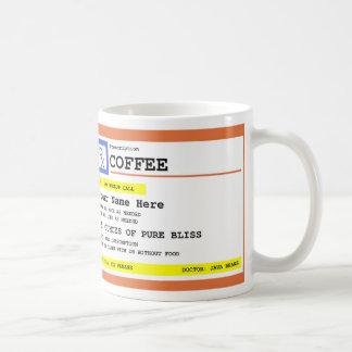 Café de prescription personnalisé mug