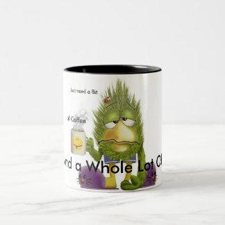 Café du besoin mug bicolore