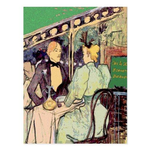 Cafe Du Monde Vintage Style Postcard