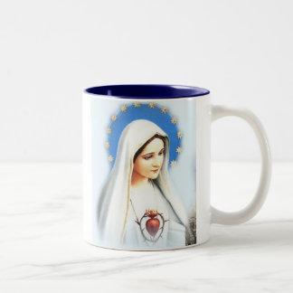 Café Fatima Mug, large Two-Tone Coffee Mug