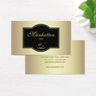 Cafe Golden Elegant Black Lace Vip Classy Vintage Business Card