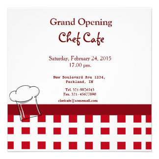 Cafe Grand Opening Invitation