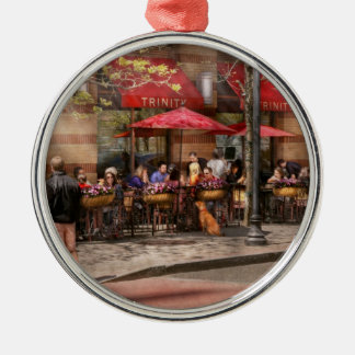 Cafe - Hoboken, NJ - Cafe Trinity Silver-Colored Round Ornament