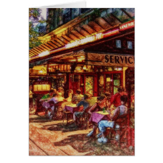 Cafe in Paris by Shawna Mac Card