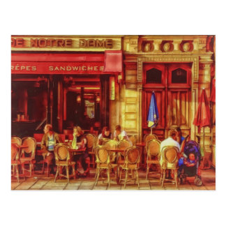 Cafe in Paris France by Shawna Mac Postcard