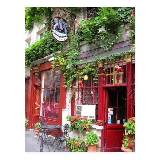 Cafe in Paris Postcards
