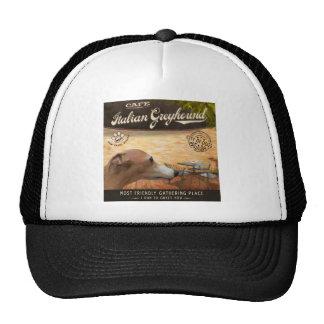 Cafe Italian Greyhound Trucker Hat