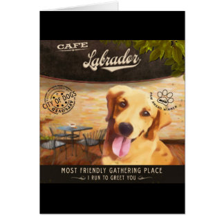 Cafe Labrador Card