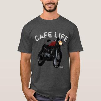 """Cafe Life"" Cafe Racer Vintage Motorcycle T-Shirt"