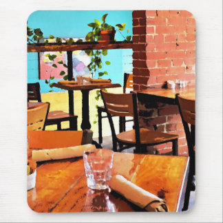 Cafe life mouse pad