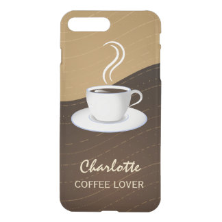 Cafe Lovers Cool Coffee and Cream Waves Clearly iPhone 7 Plus Case