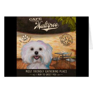 Cafe Maltipoo Card