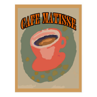 Cafe Matisse Coffee Cup Postcard