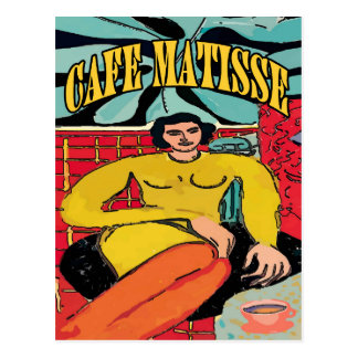 Cafe Matisse Coffee Place Postcard