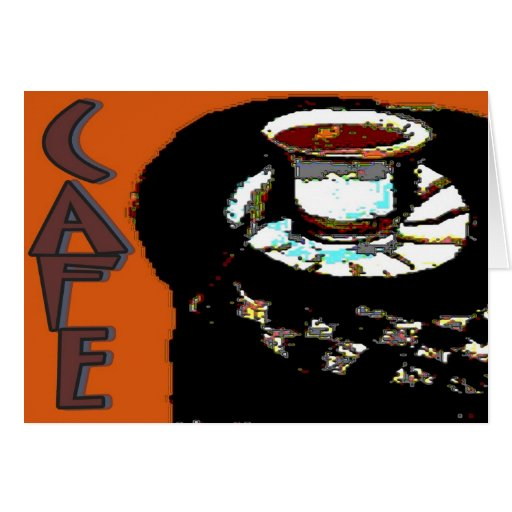 Cafe Matisse Style Sign Greeting Card