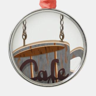 cafe metal ornament
