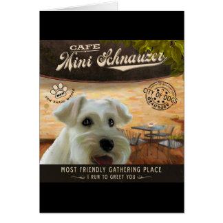 Cafe Mini Schnauzer Card
