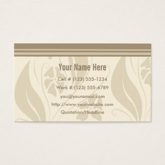 Cafe Natural Profile And Business Card