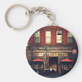Cafe - New York City Basic Round Button Keychain