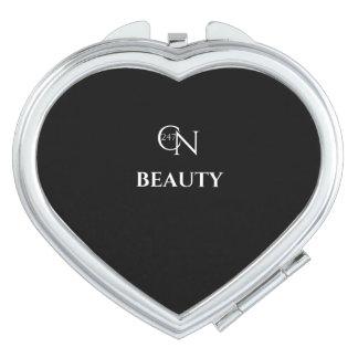Café Novela Beauty Night Heart Compact Mirror
