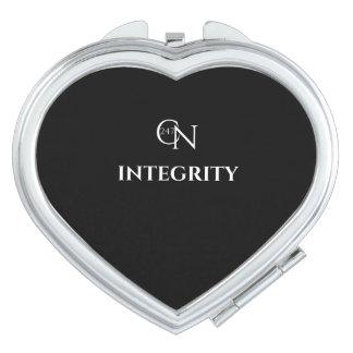 Café Novela Integrity Night Heart Compact Mirror