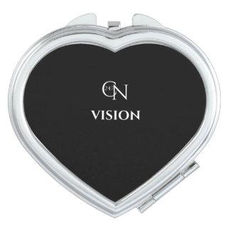 Café Novela Vision Night Heart Compact Mirror