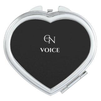 Café Novela Voice Night Heart Compact Mirror