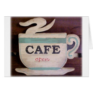 Cafe Open Greeting Card