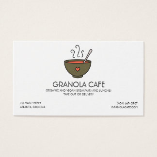 Cafe or Restaurant Soup Bowl Business Card