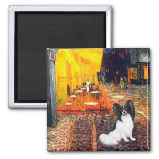 Cafe - Papillon 1 Square Magnet