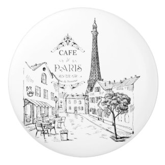 Cafe Paris Ceramic Knob