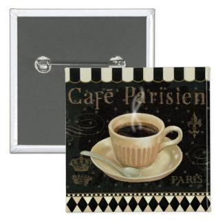 Cafe Parisien 2 Inch Square Button