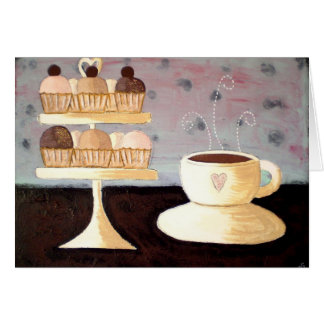 Cafe Parisien Cupcake Birthday Card