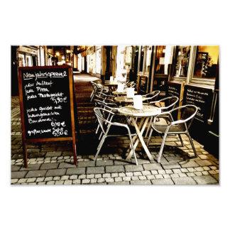 cafe photographic print