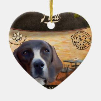 Cafe Plott Ceramic Heart Ornament
