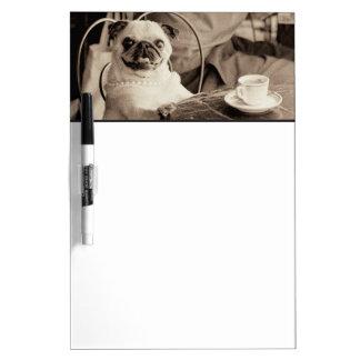 Cafe Pug Dry Erase Board