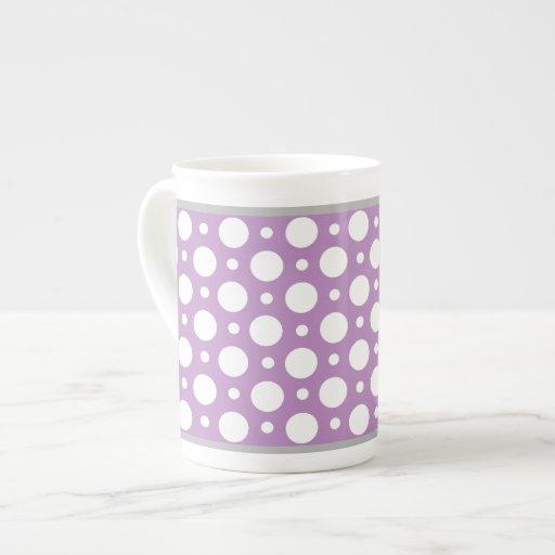 Cafe Purple Assorted Polka Dots Bone China Mug