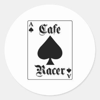 Cafe Racer Ace of Spades Round Sticker