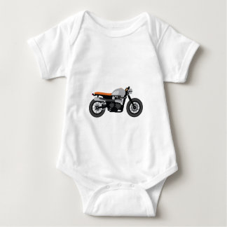 Cafe Racer / Brat Bike Motorcycle Baby Bodysuit