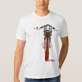 Cafe Racer Head-On Red Vintage Styled Motorcycle T Shirts