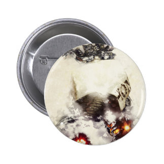 Cafe racer motorcycle watercolor 2 inch round button