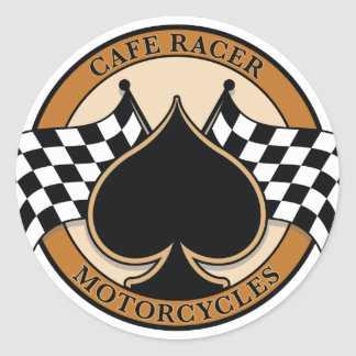 Cafe Racer Motorcycles Round Sticker