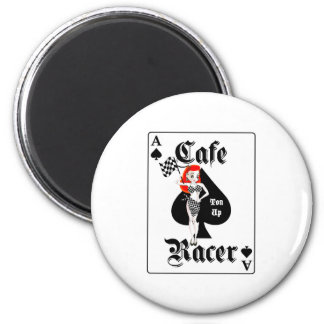 Cafe Racer Ton Up Redhead 2 Inch Round Magnet