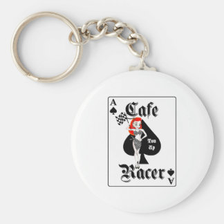Cafe Racer Ton Up Redhead Basic Round Button Keychain