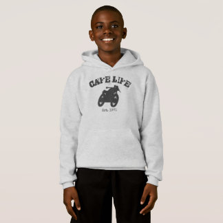 Cafe Racer Vintage Motorcycle Hoodie for boys