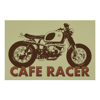 Cafe Racer Vintage Poster