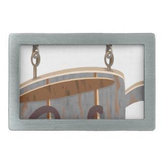 cafe rectangular belt buckle